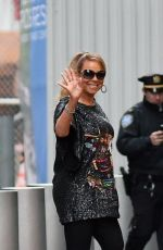 MARIAH CAREY in $11k Mini Dress Arrives at Clive Davis Pre-Grammy Party in New York 01/28/2018