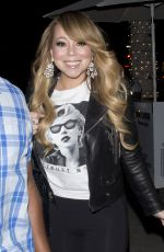 MARIAH CAREY Out for Dinner in Beverly Hills 01/18/2018