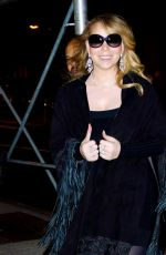 MARIAH CAREY Out for Dinner in New York 01/23/2018