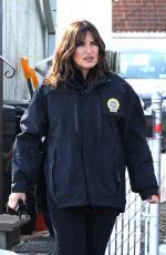 MARISKA HARGITAY on the Set of Law & Order: Special Victims Unit in Los Angeles 01/10/2018