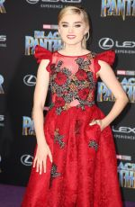 MEG DONNELLY at Black Panther Premiere in Hollywood 01/29/2018