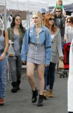 MEG DONNELLY Shopping at Farmers Market in Studio City 01/07/2018