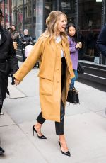 MELISSA BENOIST Arrives at AOL Build in New York 01/22/2018