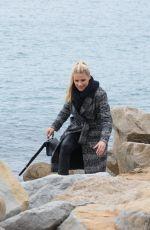 MICHELLE HUNZIKER at a Beach in Sanremo 01/29/2018