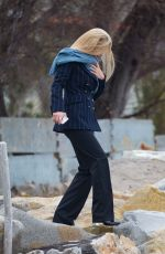 MICHELLE HUNZIKER Out for a Walk by the Sea in Sanremo 01/30/2018