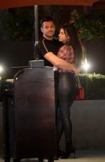MICHELLE KEEGAN and Mark Wright at a Restaurant in Los Angeles 01/20/2018