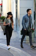 MICHELLE KEEGAN and Mark Wright Out at The Grove in Los Angeles 01/25/2018