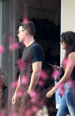 MICHELLE KEEGAN and Mark Wright Out for Lunch in Los Angeles 01/16/2018