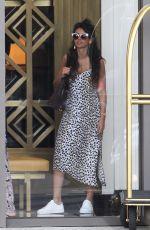 MICHELLE KEEGAN Leaves Waldorf Astoria Hotel in Beverly Hills 01/22/2018