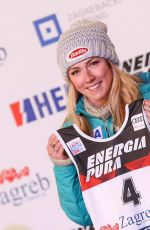 MIKAELA SHIFFRIN at Alpine Skiing Fis World Cup Ladies Draw in Zagreb 01/02/2018