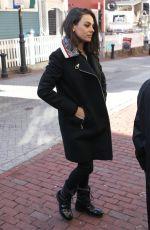 MILA KUNIS Out at Harvard Campus in Cambridge 01/25/2018