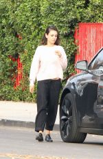 MILA KUNIS Out in Los Angeles 01/04/2018