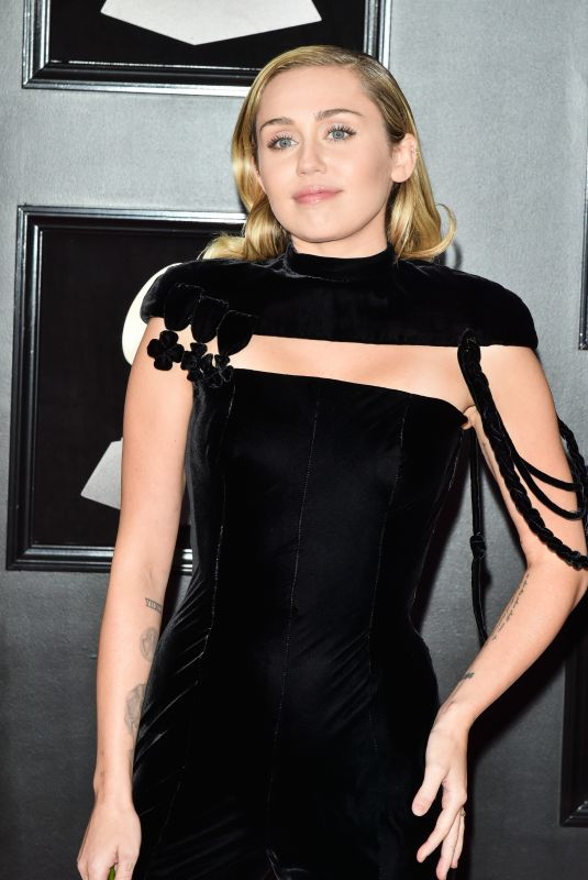 MILEY CYRUS at Grammy 2018 Awards in New York 01/28/2018