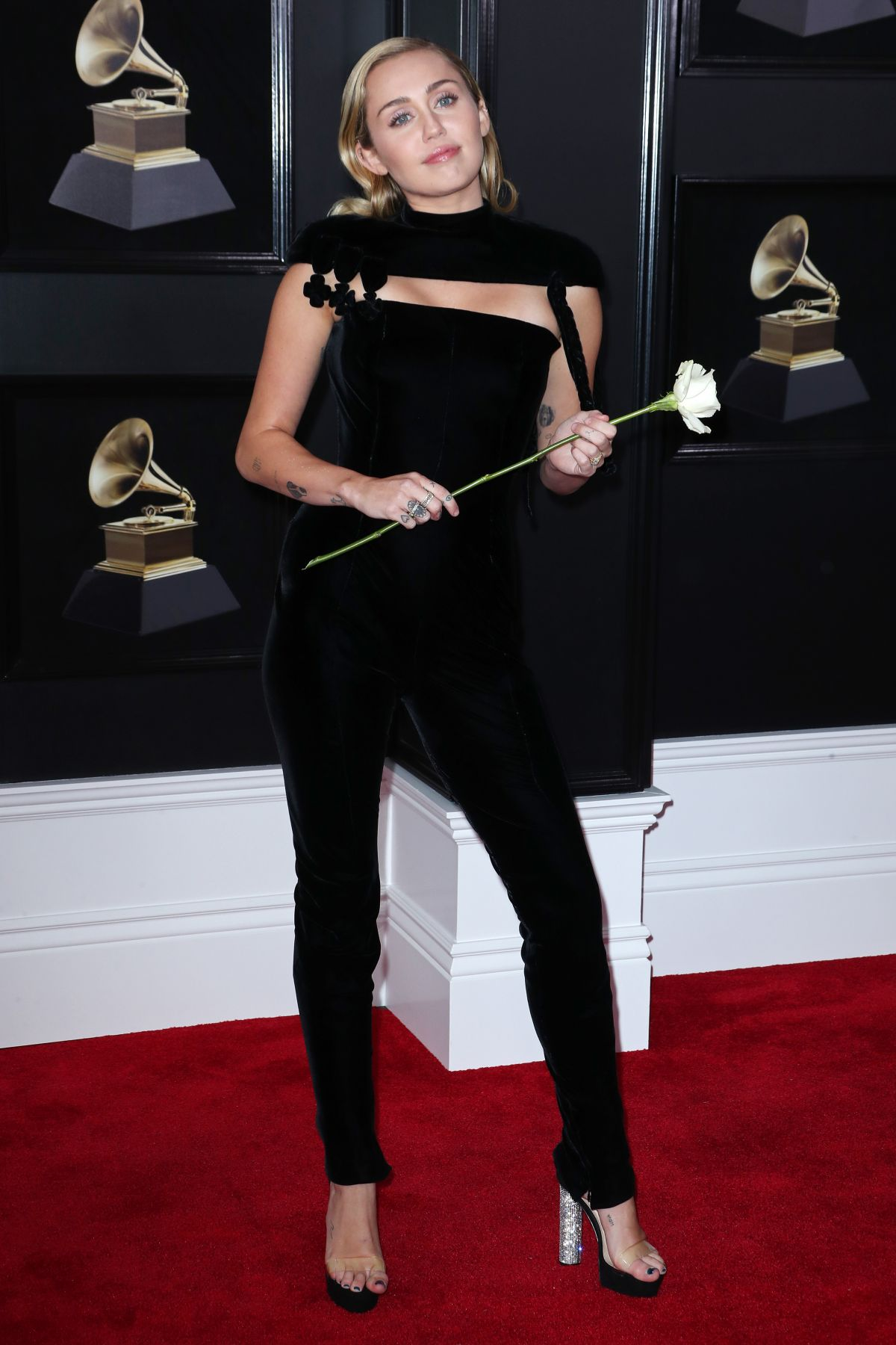MILEY CYRUS at Grammy 2018 Awards in New York 01/28/2018 ... Miley Cyrus