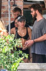 MILEY CYRUS Out for Lunch in Byron Bay 01/10/2018