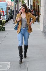 MILLA JOVOVICH Out on Rodeo Drive in Beverly Hills 01/10/2018