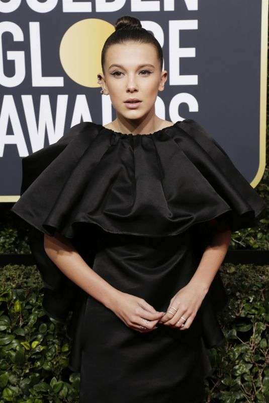 MILLIE BOBBY BROWN at 75th Annual Golden Globe Awards in Beverly Hills 01/07/2018