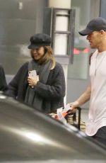 MINKA KELLY Arrives at Airport in Toronto 01/03/2018