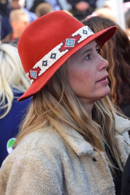 MIRA SORVINO at 2018 Women's March in Los Angeles 01/20/2018