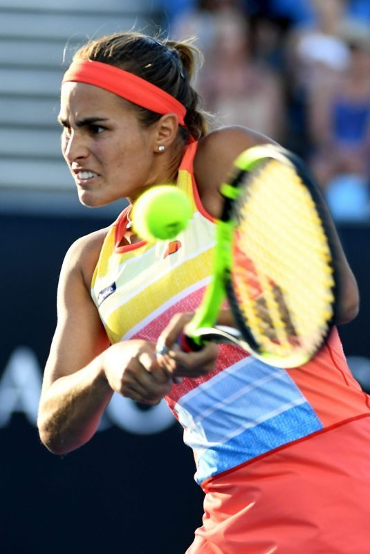 MONICA PUIG at Australian Open Tennis Tournament in Melbourne 01/17/2018