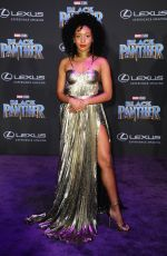 NABIYAH BE at Black Panther Premiere in Hollywood 01/29/2018