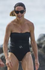 NATALIE PINKHAM in Swimsuit on the Beach in Barbados 01/02/2018