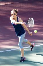 NATALIE PORTMAN Plays Tennis with Her Friends in Los Angeles 01/17/2018