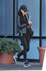 NAYA RIVERA Out and About in Los Angeles 01/22/2018
