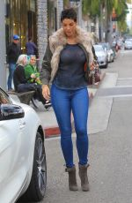 NICOLE MURPHY Out Shopping in Beverly Hills 01/16/2018