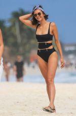 NINA DOBREV in Swimsuit on the Beach in Tulum 01/20/2018