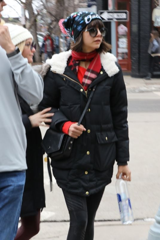 NINA DOBREV Out and About in Aspen 01/01/2018