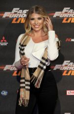 OLIVIA BUCKLAND at Fast and Furious Live at O2 Arena in London 01/19/2018