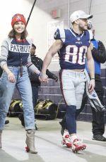 OLIVIA CULPO at Patriots vs Jaguars Game in Foxborough 01/21/2018