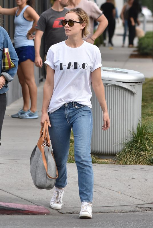 OLIVIA WILDE in Jeans Out with a Friend in West Hollywood 01/30/2018