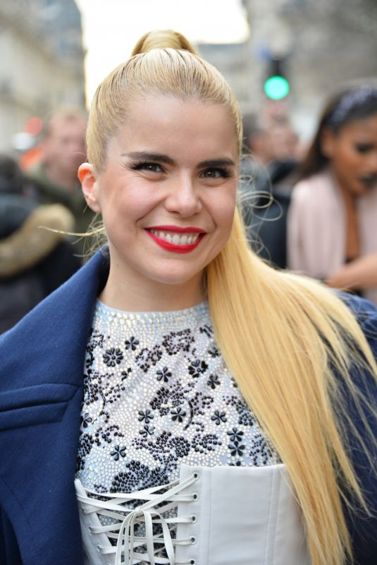 PALOMA FAITH at Jean-Paul Gaultier Haute Couture Spring/Summer 2018 Show in Paris 01/24/2018