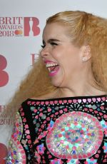 PALOMA FAITH Performs at Brit Awards Nominations Launch Party in London 01/13/2018