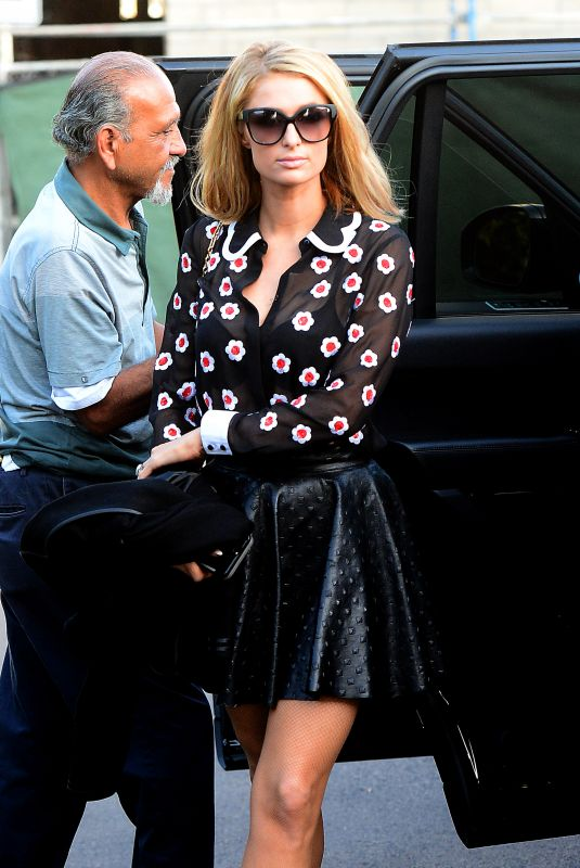 PARIS HILTON Arrives at a Beauty Salon in Beverly Hills 01/18/2018