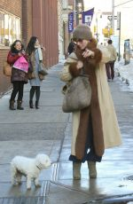 PARKER POSEY Walks Her Dog Out in New York 01/09/2018