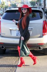 PHOEBE PRICE Out and About in Beverly Hills 01/04/2018