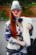 PHOEBE PRICE Out for Lunch at Il Pastaio in Beverly Hills 01/02/2018