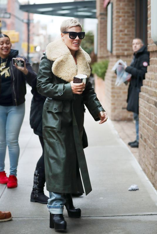 PINK Arrives at Her Hotel in New York 01/28/2018