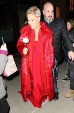 PINK Leaves Her Hotel in New York 01/27/2018