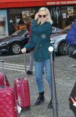PIXIE LOTT Heading at Eurostar at Gare Du Nord in Paris 01/3/2018