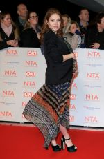 Pregnant ANGLEA SCANLON at National Television Awards in London 01/23/2018