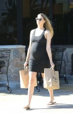 Pregnant APRIL LOVE GEARY Out Shopping in Malibu 01/28/2018