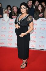 Pregnant CASEY BATCHELOR at National Television Awards in London 01/23/2018