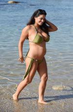 Pregnant CASEY BATCHELOR in Bikini on the Beach in Tenerife 01/18/2018