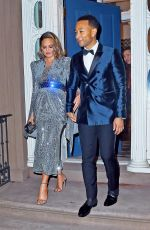 Pregnant CHRISSY TEIGEN and John Legend Heading to Grammy