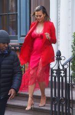 Pregnant CHRISSY TEIGEN Heading to Tonight Show Starring Jimmy Fallon in New York 01/30/2018