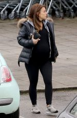Pregnant COLEEN ROONEY Out at Alderley Edge in Cheshire 01/25/2018